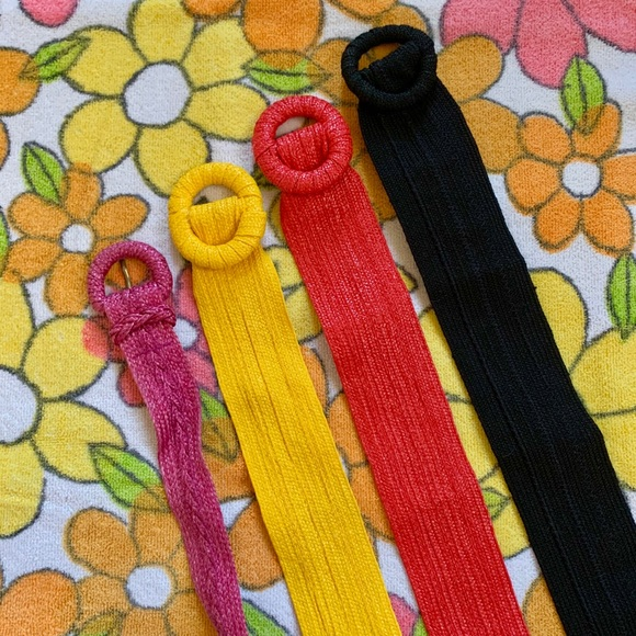 Vintage Accessories - Pick 1: vintage 1980s woven solid colored belts